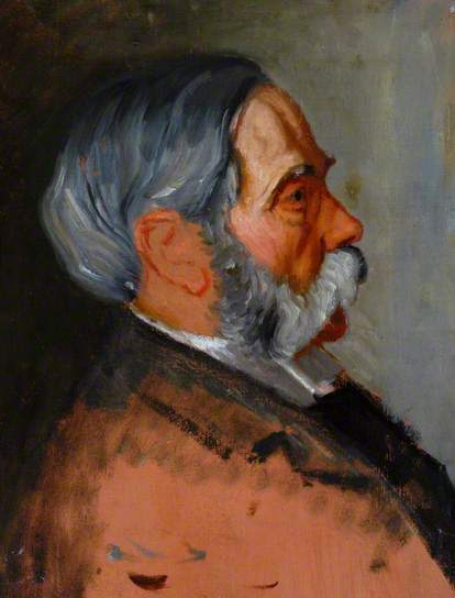 William Rothenstein, 'Moritz Rothenstein', ca. 1900, Painting, Oil on board, Ben Uri Gallery and Museum