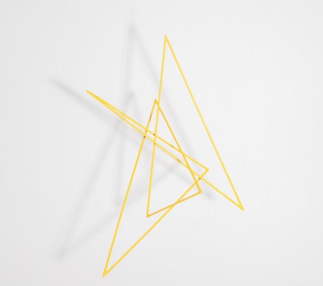 , 'Trait 55 jaune,' 2014, Galerie Marie-Robin