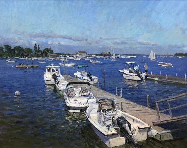 Victor Butko, 'Docks at Dering Harbor', 2019, Grenning Gallery