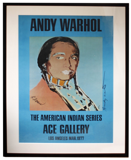 Andy Warhol, 'Ace Gallery Exhibition Poster 'The American Indian Series' Blue(Signed)', 1977, Print, Offset lithograph in colours, artrepublic