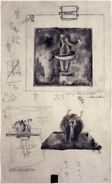 Robert Rauschenberg, 'Sketch for Monogram', 1959, Robert Rauschenberg Foundation