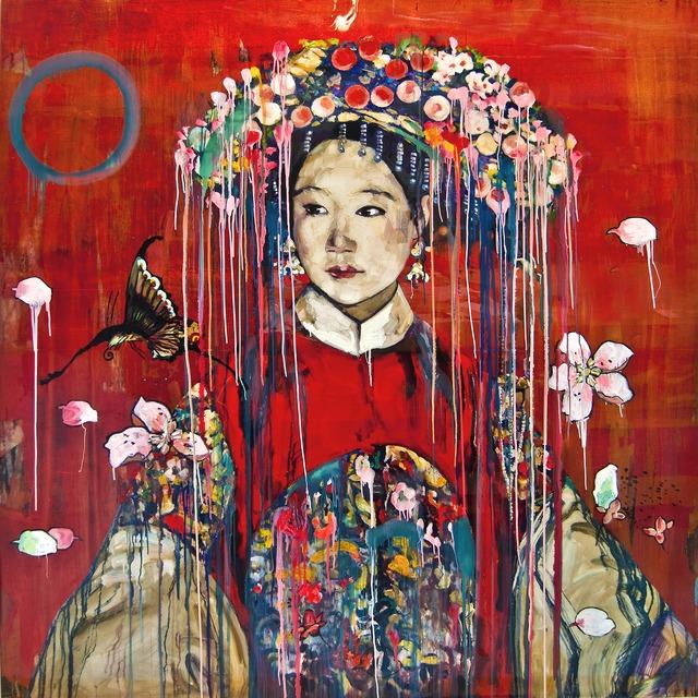 Hung Liu, 'Manchu Bride-Red ', 2016, Nancy Hoffman Gallery