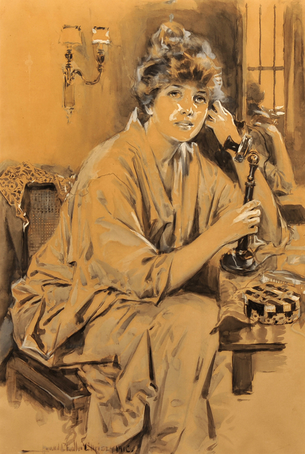 Howard Chandler Christy, 'Portrait of Woman', 1916, The Illustrated Gallery