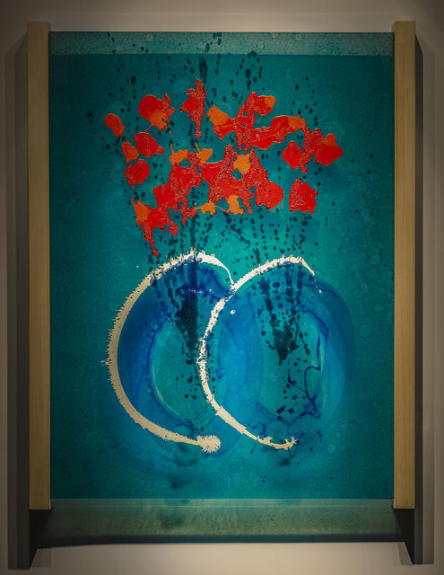 , 'Ikebana Glass on Glass Painting (DCHI 0601),' 2019, Arthur Roger Gallery