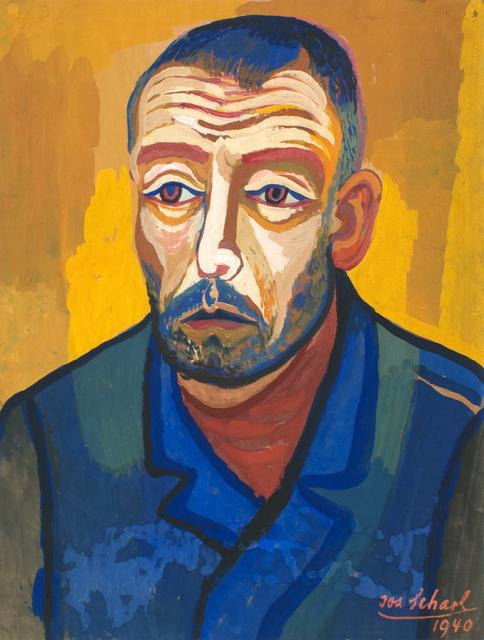 , 'Mann mit blauer Jacke (Man with blue jacket),' 1940, Hagemeier