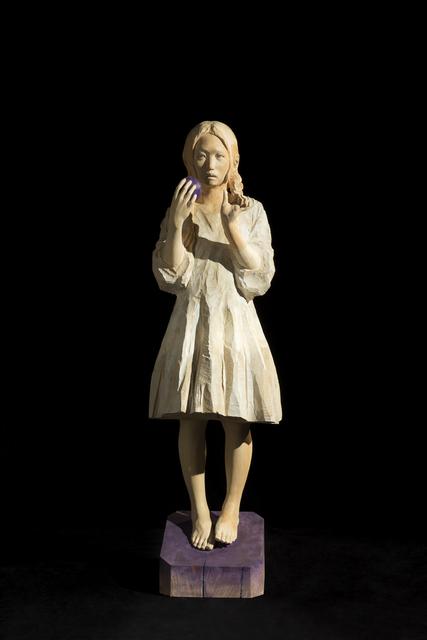 , 'As always, her meditation will walk around in midnight.,' 2014, Wooson Gallery