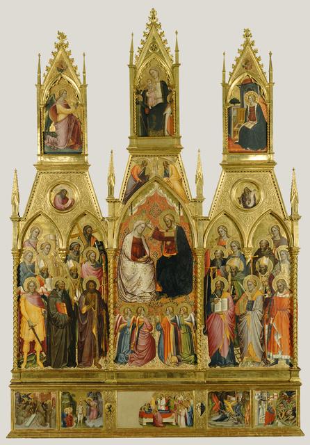 Cenni di Francesco di Ser Cenni, 'Polyptych with Coronation of the Virgin and Saints', 1390, J. Paul Getty Museum