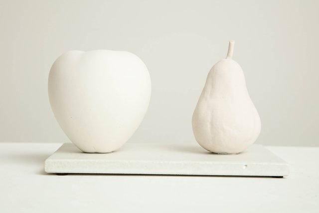 , 'Still Life in White with Apple and Pear,' 2017, Hostler Burrows