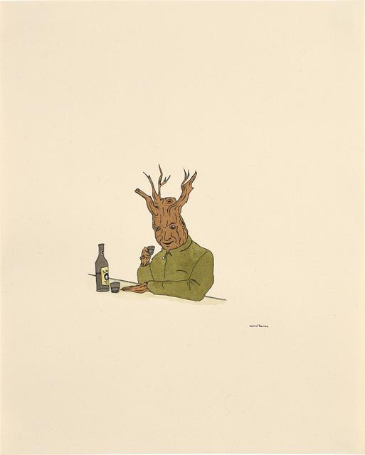 Marcel Dzama, 'Treeman with Drink', 2000, Phillips