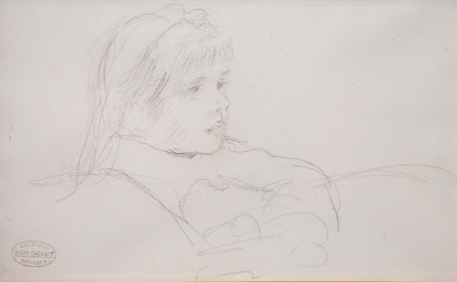 Mary Cassatt, 'Tete de Fillette (Head of a Girl)', ca. late 1800s, Contessa Gallery