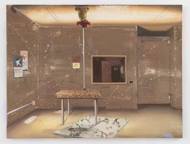 Matthias Weischer, 'Braunes Zimmer', 2002, Painting, Oil on canvas, GRIMM