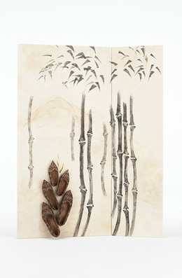 Chiho Akama, 'Bamboo', 2010, Painting, Japanese Paper, Sumi Ink and others, Dillon + Lee