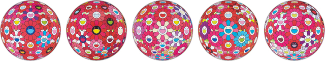 Takashi Murakami, 'Flower Ball (3D)-Turn Red!; Hey! You! Do You Feel What I Feel?; Flower Ball (3D) - Blue, Red; Letter to Picasso; Groping for the Truth', 2013-2014, Phillips