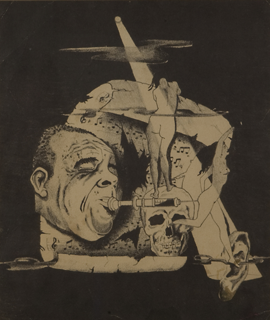 , 'Untitled (Louis Armstrong/Syringe in mouth),' ca. 1940, Kohn Gallery