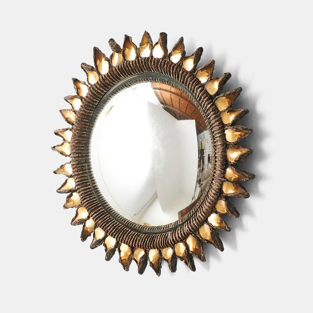 """, 'Small """"Golden Thistle"""" Mirror by Line Vautrin,' 1955-1965, Almond & Co."""