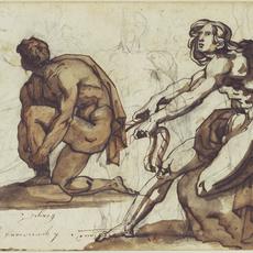 Théodore Géricault, 'Classical Nudes (recto), Classical Statuary (verso)', 1814-1815, J. Paul Getty Museum