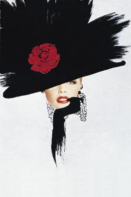, 'Hommage à Gruau, Chapeau, C. Schiffer,' 1991, Bernheimer Fine Art