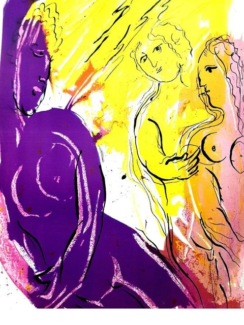 Marc Chagall, 'Original Lithograph depicting an instant of the Bible by Marc Chagall IV', 1956, Galerie Philia
