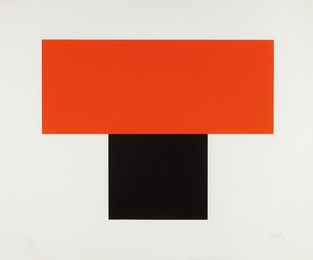 Ellsworth Kelly, 'Red-Orange over Black,' 1970, Phillips: Evening and Day Editions (October 2016)