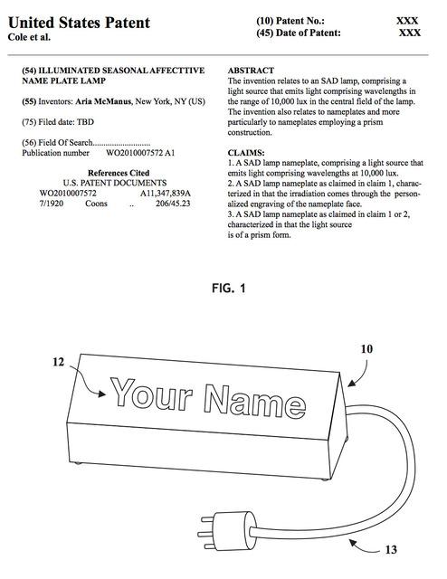 , 'Illuminame Patent Paperwork,' 2017, AA LA