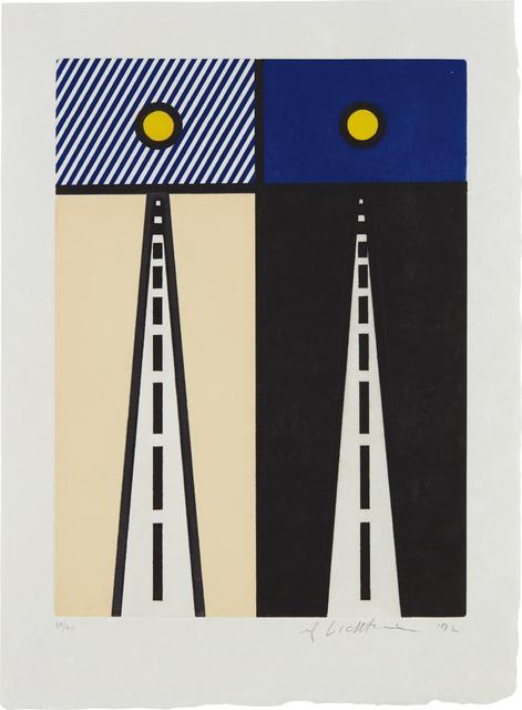 Roy Lichtenstein, 'Auto Poesie en Cavale de Bloomington, (Auto Poetry in Bloomington's Cavalry), from La nouvelle chute de l'Amerique (The New Fall of America)', 1992, Phillips