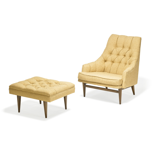 Kipp Stewart, 'Lounge chair and ottoman, Grand Rapids, MI', Design/Decorative Art, Walnut, upholstery, Rago/Wright