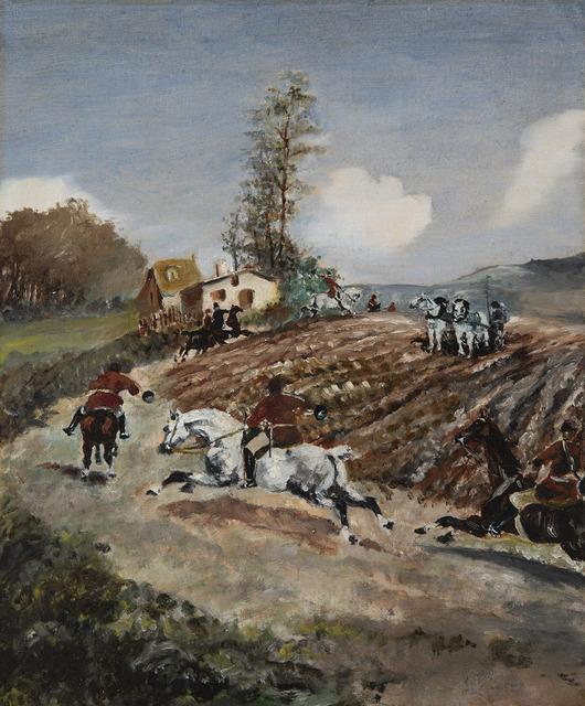 Henri de Toulouse-Lautrec, 'Chasse à courre', ca. 1881, HELENE BAILLY GALLERY