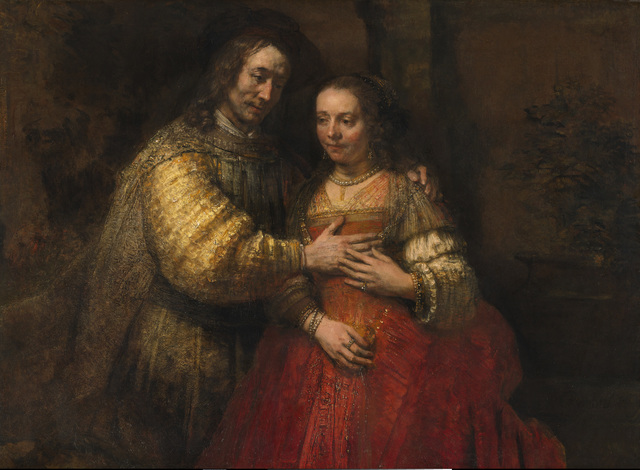 , 'Portrait of a Couple as Isaac and Rebecca, known as 'The Jewish Bride',' about 1665, The National Gallery, London