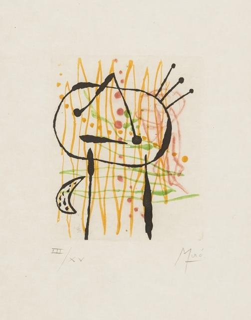 Joan Miró, 'Untitled from La Bague D'Aurore (Dupin 134)', 1957, Forum Auctions