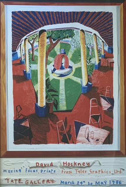 David Hockney, 'Original signed poster (Moving Focus Prints from Tyler Graphics)', 1986, Kwiat Art