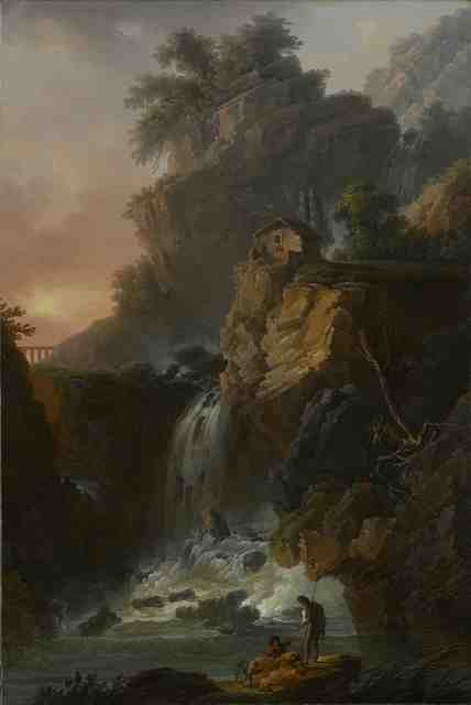 , 'Capriccio View of a large Cascade with a Cliff,' Late 18th Century, Galerie Grippaldi