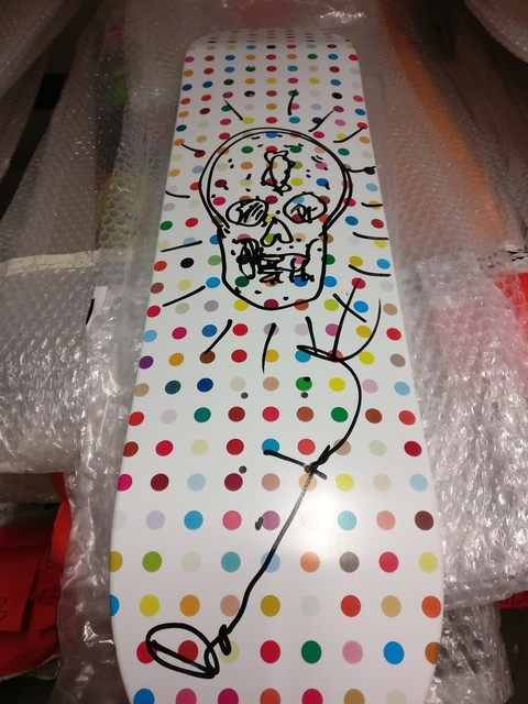 , 'Original signed Skull drawing (Unique) on Limited Edition skate deck,' 2009, Alpha 137 Gallery