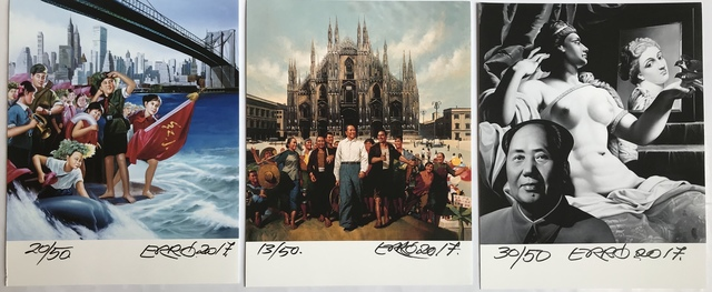 Erró, 'Milan, New-York et Mao', 2017, Digard Auction