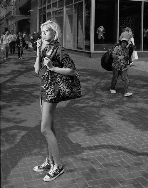 , 'Here, on the street, perhaps waiting for a friend,' 2011, Rena Bransten Gallery