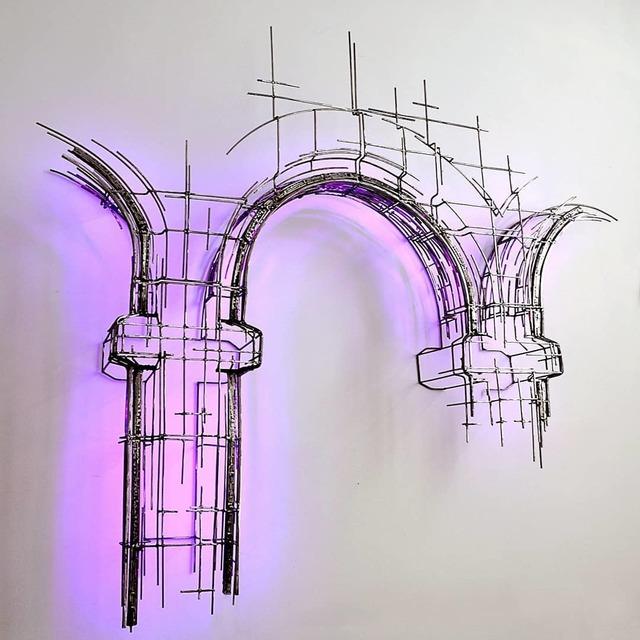 Juan Garaizabal, 'Broken Havana facade', 2019, Sculpture, Acier et led, Bogena Galerie