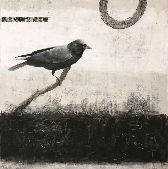 , 'Synaptic Stitch (Crow),' 2017, Patricia Rovzar Gallery