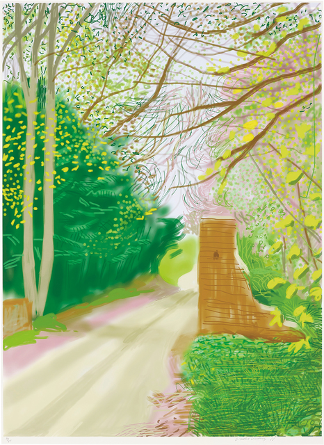 David Hockney, '17th April, from The Arrival of Spring in Woldgate, East Yorkshire in 2011 (twenty eleven)', 2011, Phillips