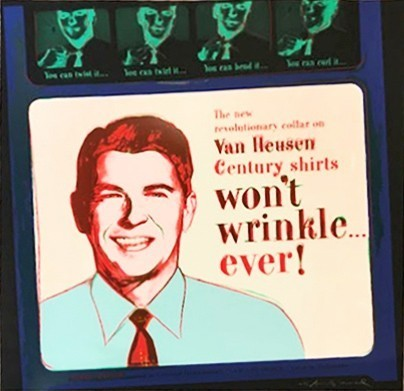 Andy Warhol, ' Van Heusen (Ronald Reagan)', 1985, Georgetown Frame Shoppe