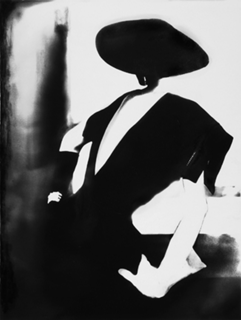 , 'Black - With One White Glove, Barbara Mullen, Dress by Christian Dior, New York, Harper's Bazaar,' 1950, Staley-Wise Gallery