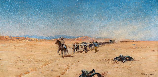 Wilhelm Kuhnert, 'Trek through the Namib Desert', Strauss & Co