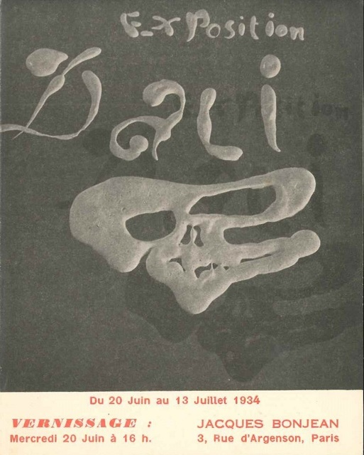 ", 'Invitation to ""Exposition Dalì"",' 1934, Wallector"
