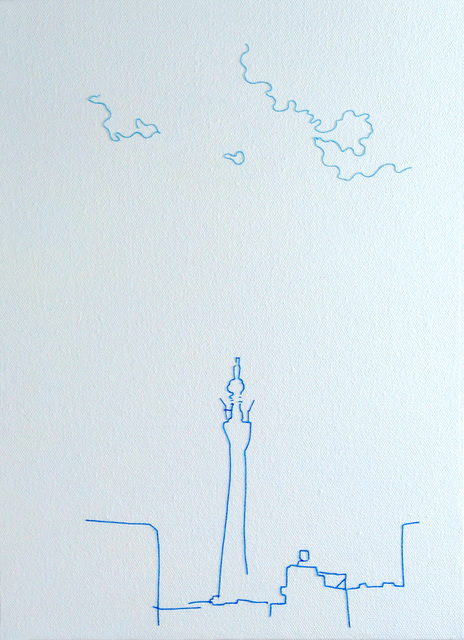 Kazuharu Ishikawa, 'Growing to the sky', 2019, Painting, Cotton, acrylic, canvas, etc., Mizuma Art Gallery