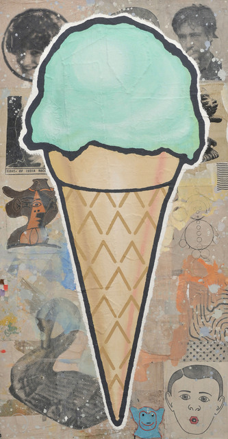 , 'Large Green Cone,' 2008, AMELCHENKO