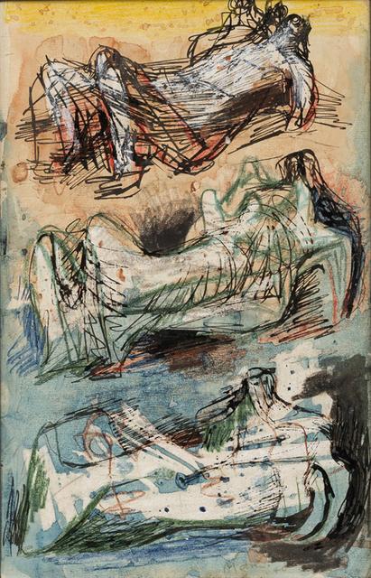 , 'Three Reclining Figures: Studies for Sculpture,' 1940, Christopher Kingzett Fine Art