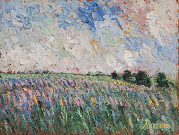 , 'Wild Lavender Field,' 2018, Galerie d'Orsay