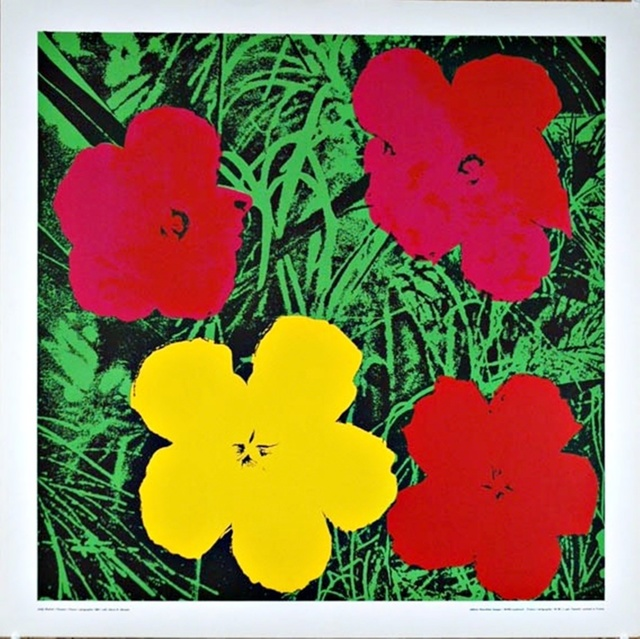 Andy Warhol, 'Flowers (Red & Yellow)', 1970, Posters, Silkscreen Poster on Linen Canvas Backing. Unframed., Alpha 137 Gallery Gallery Auction