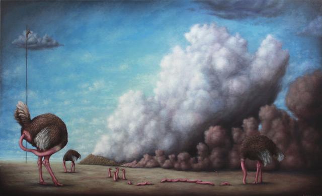 , 'La politique de l'autruche,' 2012, Fousion Gallery