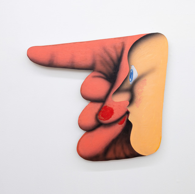 James English Leary, 'Pointer (2)', 2020, Painting, Acrylic on shaped panel, Nina Johnson