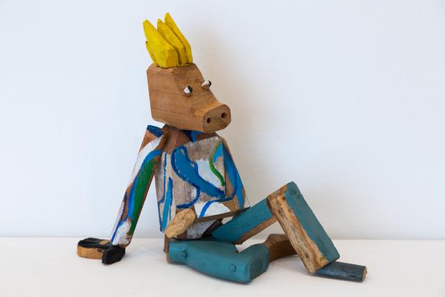 Orestes Hernández Palacios (CU), 'Untitled', 2020, Sculpture, Polychromed wood carving, El Apartamento