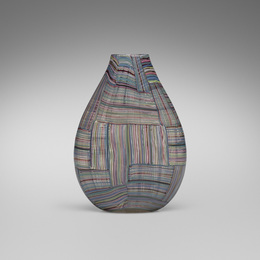 Rare and Important Mosaico Tessuto vase